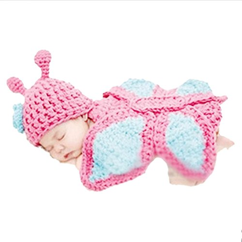 I'MQueen Handmade Crochet Newborn Infant Costume Set Baby Boy Outfit Photo Props (Twin Girl Costumes)