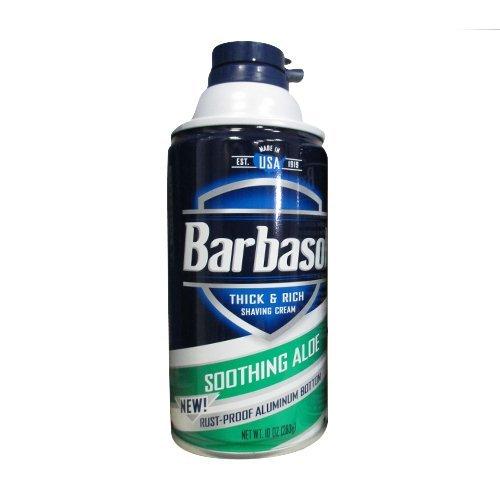 Barbasol Soothing Aloe Thick & Rich Shaving Cream 10 Oz