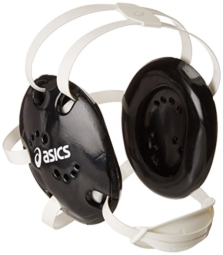 ASICS Snap Down Earguard, Black, One (Asics Wrestling Ear Guard)