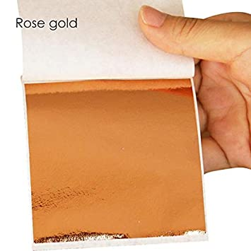 Gold Leaf by Sisi 100 Sheets Imitation Gold Paper Rose Gold and Silver Color Gilding Furniture and Wall Decorations Crafting Gold Paper for Art Purposes Rose Gold Various Colors Classic Gold