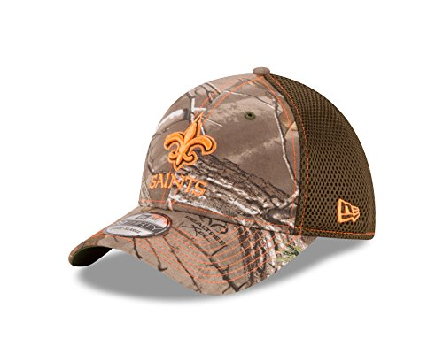 NFL New Orleans Saints Realtree NEO 39THIRTY Stretch Fit Cap, Medium/Large, Realtree Camo