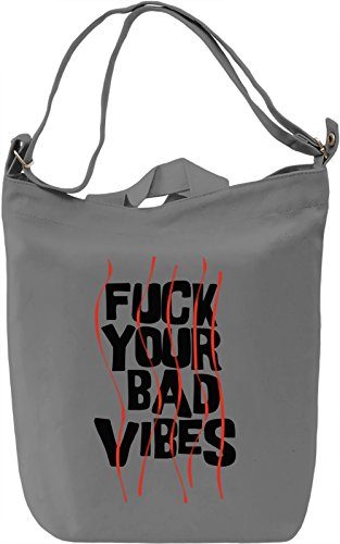 Bad vibes Borsa Giornaliera Canvas Canvas Day Bag| 100% Premium Cotton Canvas| DTG Printing|