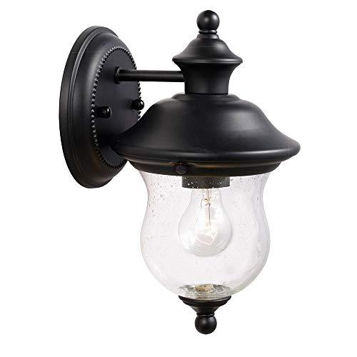 Design House 502906 Highland 1 Light Indoor/Outdoor Wall Light, Black