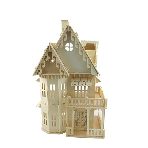Aquaman Store Model Building Kits - Gothic Doll House Children Building Toys Wooden 3D Assembling Building Scale Model of Miniature DIY 301845CM 1 ()
