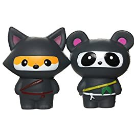 Ninja Fox & Ninja Panda | Slow Rising Jumbo Squishies 12