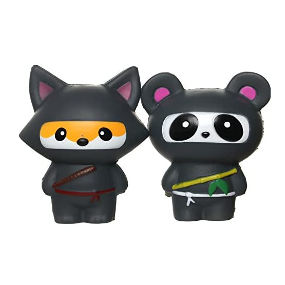 Ninja Fox & Ninja Panda | Slow Rising Jumbo Squishies 1
