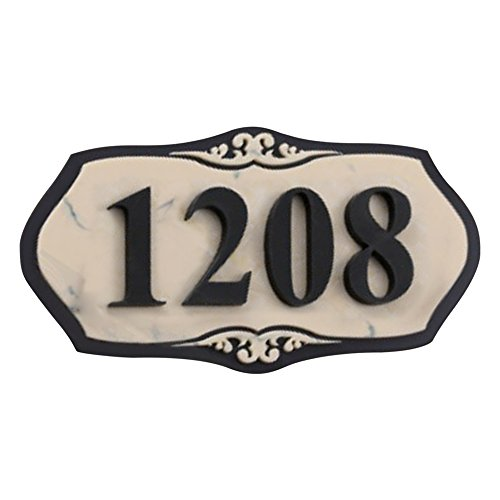 Aspire Customized Home Address Sign, House Hotel Office Number Sign, Personalized Acrylic Address Plaque Sign-Marble Pattern B-5'' L x 10'' W by Aspire