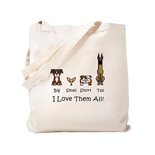 CafePress Dog Lover Natural Canvas Tote Bag, Cloth Shopping Bag