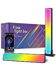 """Set van 2 Smart LED Lightbar, VARWANEO RGB LED Lampe met Meerdere Lichteffecten en Muziekmodi, Gaming Lamp Sync met Muziek, Sfeerverlichting, LED Play Light Bar voor 27-45"""" PC, TV, Kamerdecoratie"""