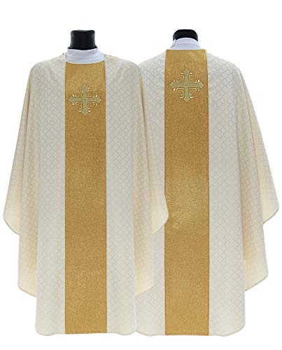 Cream Gothic Chasuble Vestment G754-K11 - Chasuble Brocade