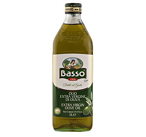 Basso Extra Virgin Olive Oil 1 Liter, 33.8 fl. oz. (12 Bottles) by Basso