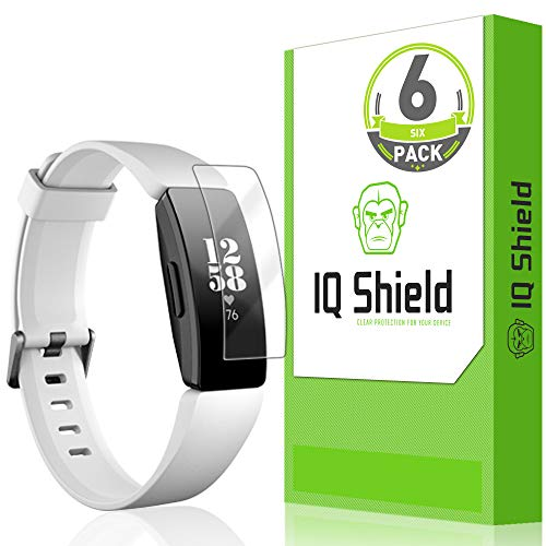 IQ Shield Screen Protector Compatible with Fitbit Inspire HR (Fitbit Inspire)(6-Pack)(Full Coverage) LiquidSkin Anti-Bubble Clear Film