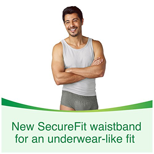 Depend FIT-FLEX Incontinence Underwear for Men, Maximum Absorbency, S/M, Gray, 60 Count by Depend (Image #3)