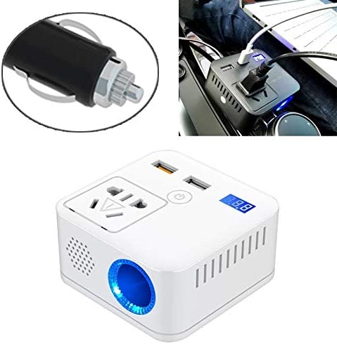 Timemall Car Charger Universal Car QC3.0 Dual Port USB Charger Aluminum Alloy 2 Port USB Adapter 5V 2.4A IP66 Color : White Light Blue Light
