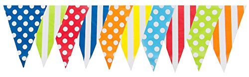30ft Multi Mix Pennant Flags Banner Birthday Party Decoration (Multi Color -