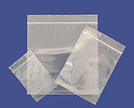 100 Plain Resealable Reusable Grip Seal Clear Plastic Storage Bags - All Sizes Available- Free UK Delivery - Suitable for Auto Parts and Domestic Use (6 x 9)