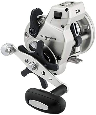 Daiwa Accudepth Plus-B Linecounter ADP57LCB 20-30Lbs Test Lefthand Retrieve Reel, Silver [並行輸入品]