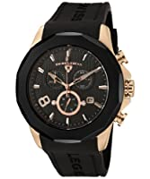 Swiss Legend Men's 10042-RG-01-BB Monte Carlo Chronograph Black Textured Dial Black Silicone Watch by Swiss Legend