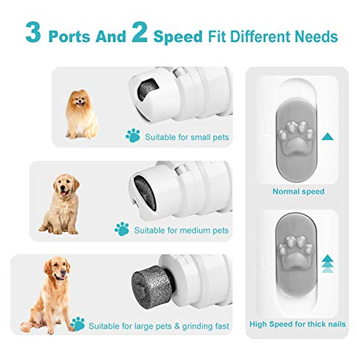 Beloveboo Cat and Dog Nail Grinder Clippers Set, Electric Rechargeable Pet Nail Trimmer, Painless Paws Grooming & Smoothing for Small Medium Large Dogs Cats