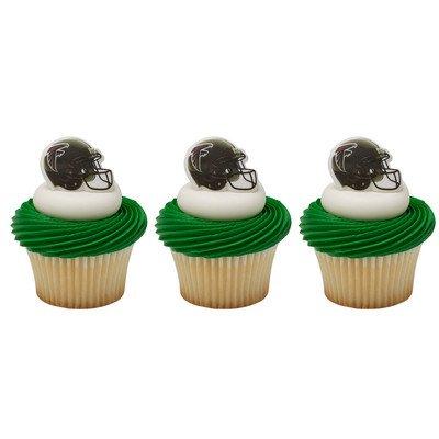 NFL Atlanta Falcons Cupcake Helmet Rings Cake Decoration