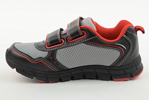 BOY zapatillas LUMBERJACK júnior bajo FLASH 3668 M30 No 30/35 NERO-GRIGIO