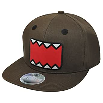 Domo Face Animation Snapback Japanese Cartoon Flat Bill NHK Character Hat Cap