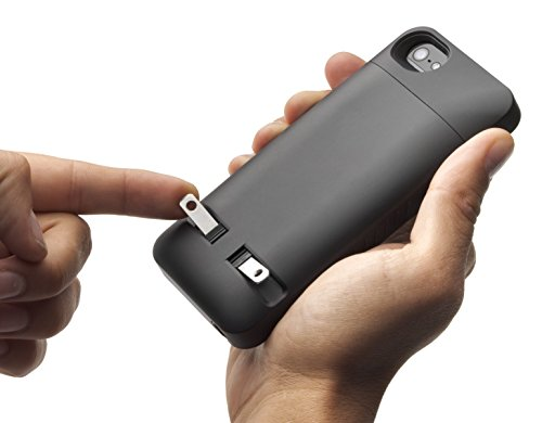 Prong 1050101 PocketPlug Protective Case with Built-in A/C Charger for iPhone 5/5S/5SE - Black
