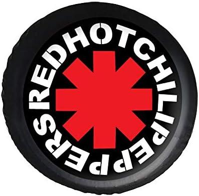 レッドホットチリペッパーズ アメリカ ロックバンド ロゴ タイヤカバー タイヤ保管カバー 収納 防水 雨よけカバー 普通車・ミニバン用 防塵 保管 保存 日焼け止め 径83cm