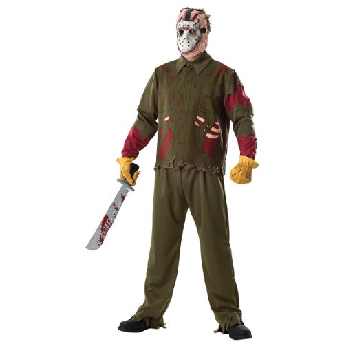 Rubie's Costume Co. Deluxe Jason, Standard, Multicolor (Jump Suit Kids)