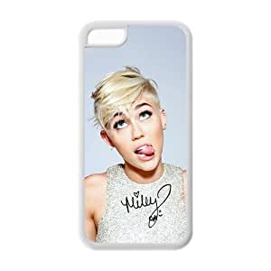 Mystic Zone Personalized Pop Singer Miley Cyrus Cover Case for Iphone 5C TPU (Cheap IPhone5)