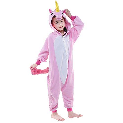Sunrise Childrens Pajamas Sleeping Wear Anime Cosplay Onesie Homewear (115#, NEW PINK UNICORN)