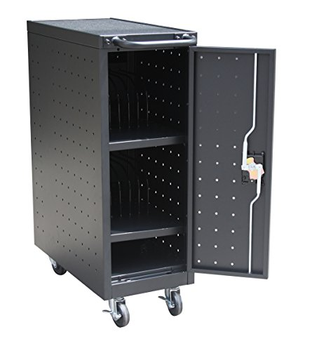 Cart Locking (Pearington 12 Bay Charging Cart for I-Pad, Tablets & Laptop Computers With Secure Locking Storage, Black)