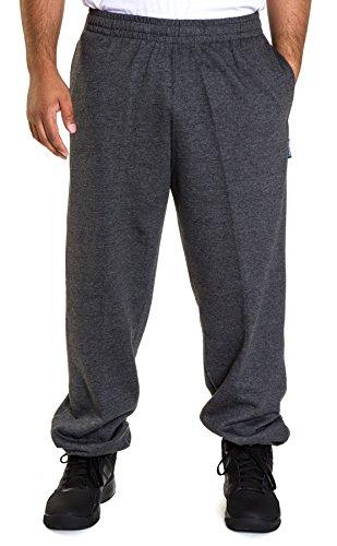 Spalding Mens Basic Comfort Fleece Open Bottom Sweatpants Black Heather Gray Small