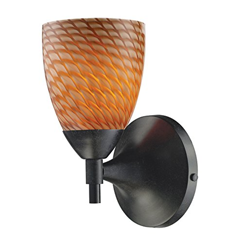- Elk Lighting 10150/1 Single Light Wallchiere from the Celina Collection, Dark Rust / Multi Glass