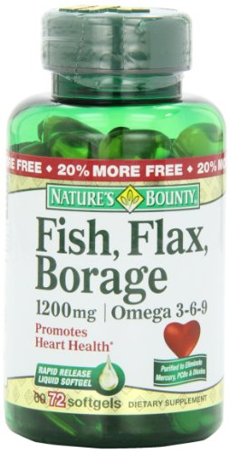 Natures Bounty Borage Softgel 72 Count