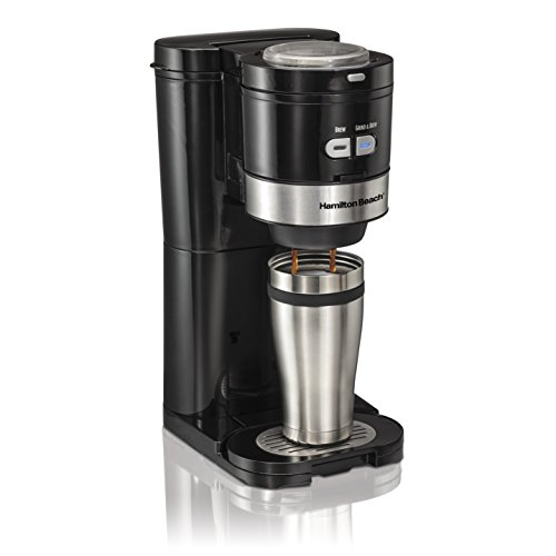 2 Cups Grind/Brew Single-Serve Coffee Maker ,Black/Silver