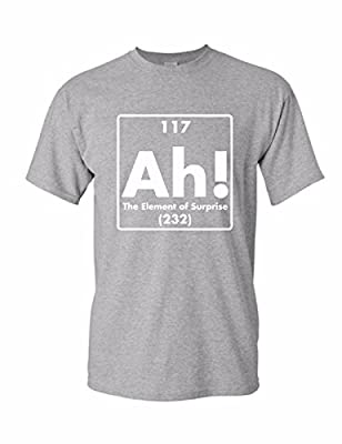 Uink AH! The Element of Surprise Men's Funny T-shirt