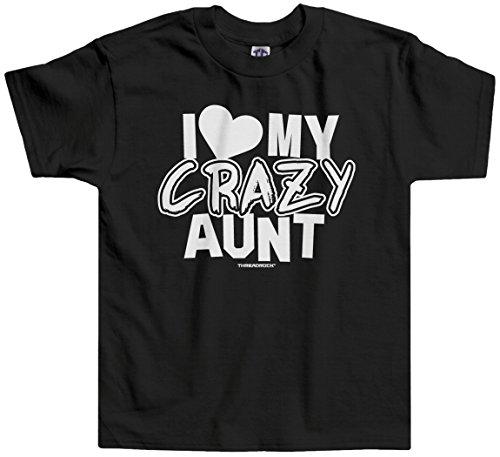 Threadrock Little Boys' I Love My Crazy Aunt Toddler T-Shirt 4T Black