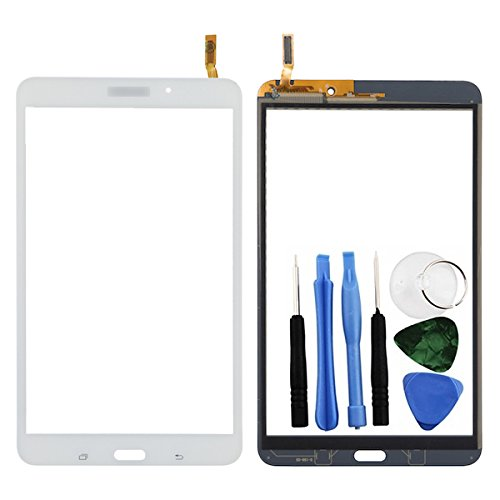 BisLinks White Touch Screen Digitizer Part For Samsung Galaxy Tab 4 8'' T330 + Tools by BisLinks®