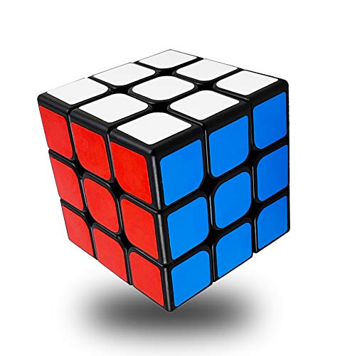 INTEGEAR Full Size 56mm Magic Speed Cube 3x3 Easy Turning and Smooth Play Durable Puzzle Cube Toy for Kids