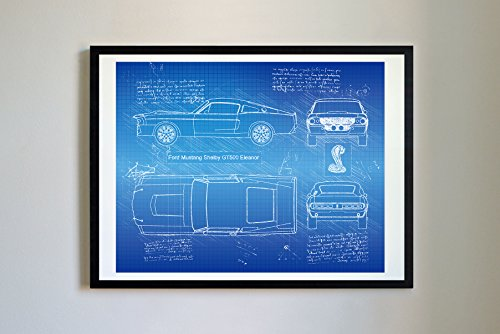 #268 Ford Mustang Shelby GT500 Eleanor 1967 Art Print - D...