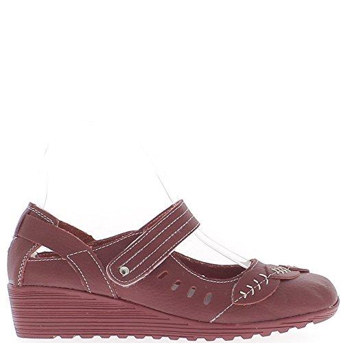 Cuir Femme Rouges Chaussures Chaussures Confort Femme wqtEOn
