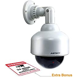 Fake Security Camera, Dummy Dome Shaped Decoy Realistic Look Surveillance System + Bonus Warning Sticker Indoor/Outdoor Use, Perfect For Businesses & Shops- By Armo