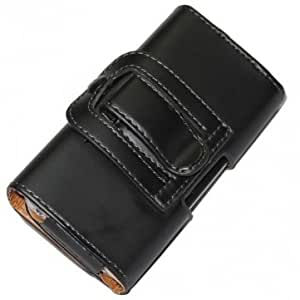 Three-folding Leather Case Pouch With Belt Clip Holder For iPhone 4 -- Big Paw Trading