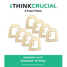 8 Drinkwell Foam Pre Filters Fit 360, Lotus, Avalon, Pagoda & Sedona Pet Fountains, by Think Crucial