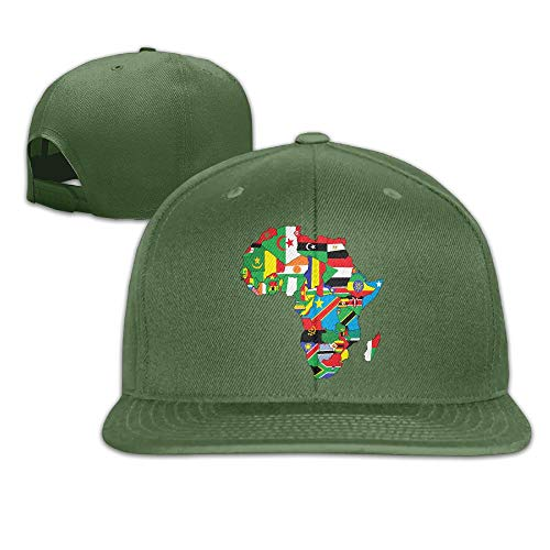 Anotolate Noe Map of Africa with Flags Dad Hat Adjustable Hat Trucker Cap Baseball Hat by Anotolate Noe