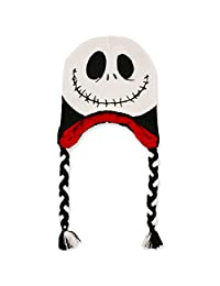 Disney Big Girls Nightmare Before Christmas Jack Skellington Character Hat, Age 7-16,White, Black, Red,One Size