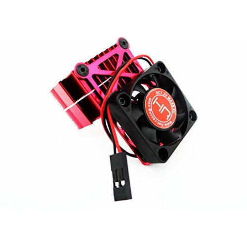(Hot Racing Clip-On Two-Piece Motor Heat Sink with Fan,)