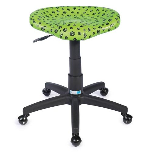 Master Equipment Contoured Paws Grooming Stool - Comfortable and Extra-Stable Vinyl Stools Designed to Offer Maximum Comfort, Mobility, and Support While Grooming Dogs, Blue