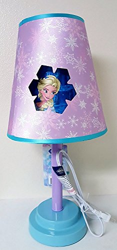 (Disney Frozen Table Lamp with Die Cut Shade, Pink)